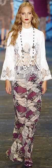 Anna Sui 2016春夏纽约时装周