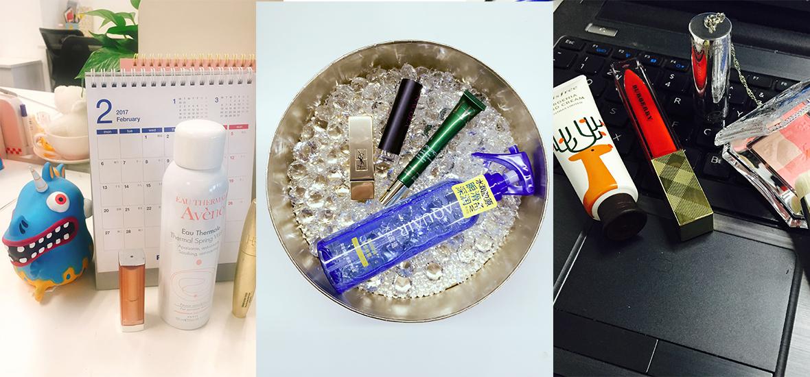 开启崭新一年 编辑的办公桌上的新品美妆