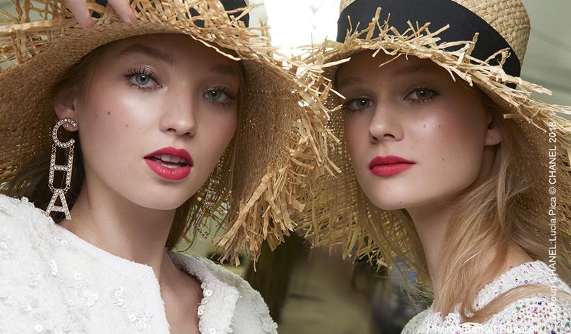 2019香奈儿春夏高级成衣系列秀场妆容 全球彩妆创意与色彩设计总监露西娅·皮卡 后台采访