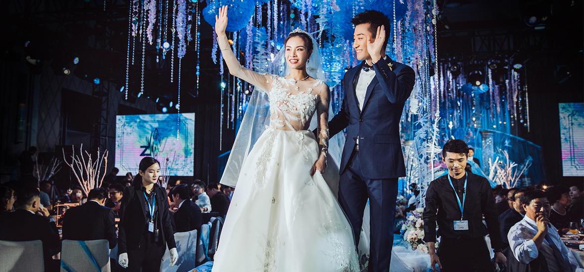 吴敏霞张效诚上海大婚:沪上夜如水,皎皎月如钩