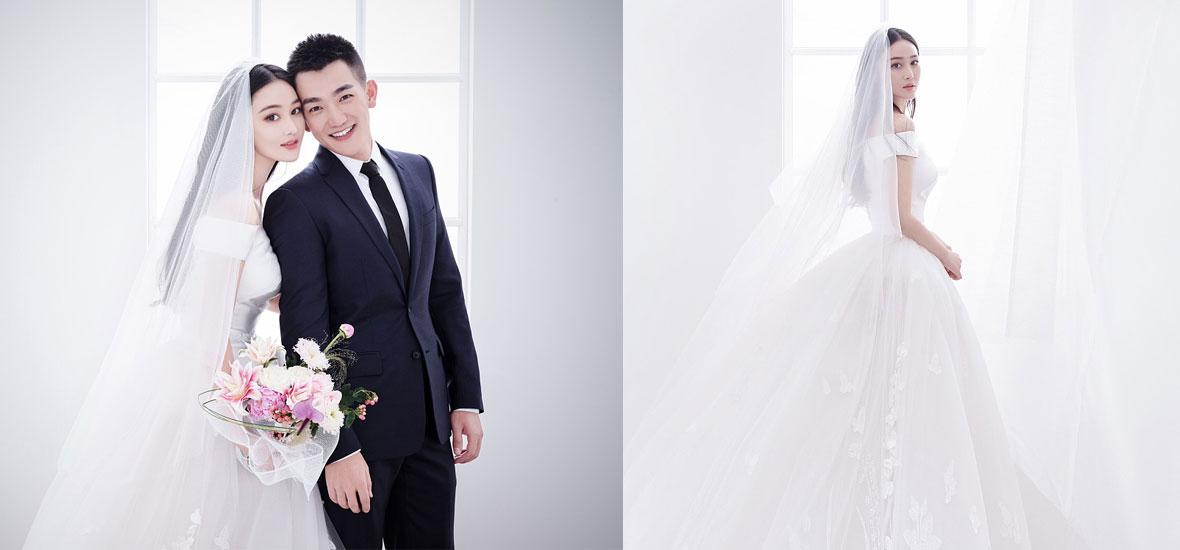 张馨予婚纱照曝光 嫁给爱情的女人最美丽!