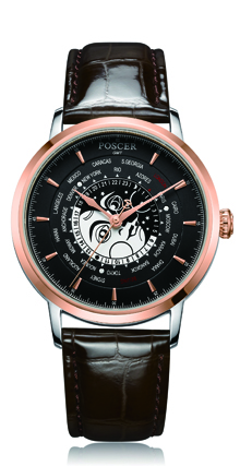 宝时捷表日月星辰系列世界时腕表