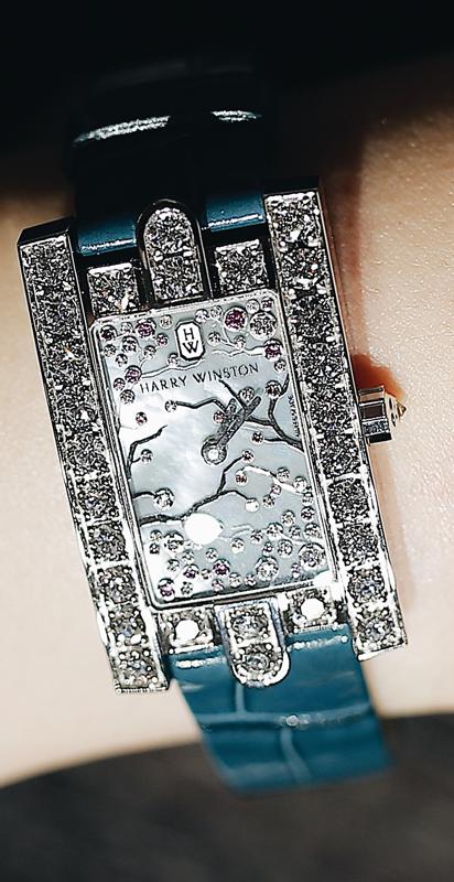 海瑞温斯顿Avenue Classic系列Cherry Blossom腕表