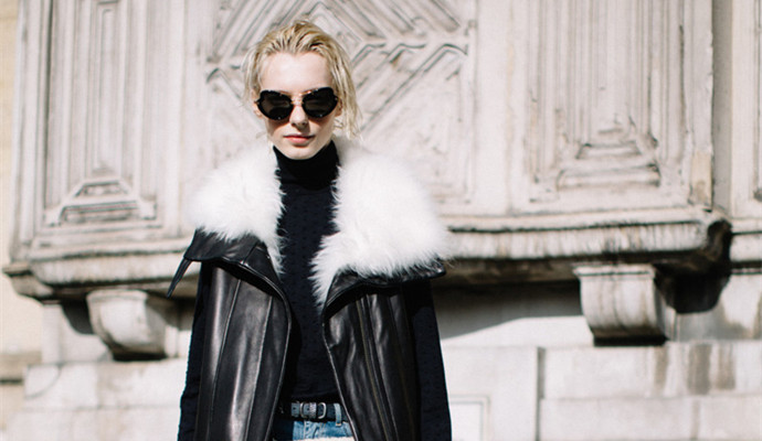 伦敦2017秋冬时装周模特街拍
